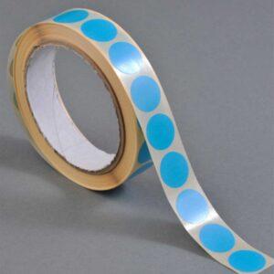 Discos azuis de base autocolante (13 mm)