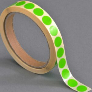 Discos verdes de base autocolante (13 mm)
