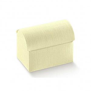Baú de base rectangular cartolina linho marfim
