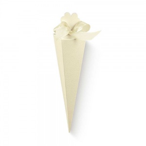 Cone cartolina linho marfim