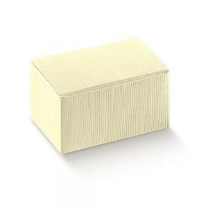 Caixa cartolina linho marfim de com tampa integrada