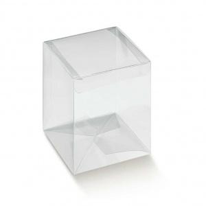 Prisma transparente de base quadrada