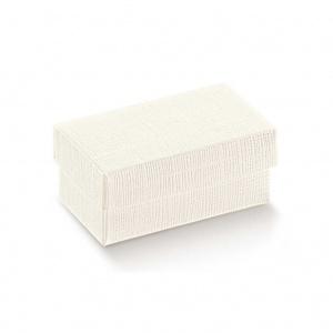 Caixa de base e tampa em cartão linho branco