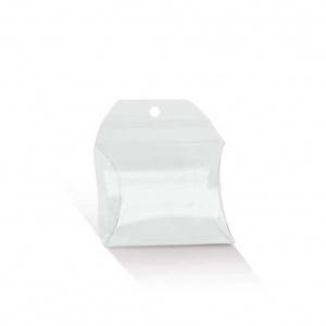 Envelope transparente com pala com furo