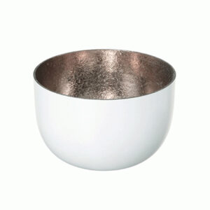 Taça metalizada para velas (branca)