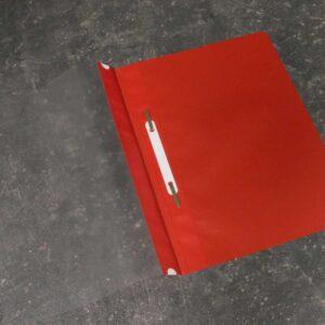 Classificador para A4 com visor e ferragem (vermelho)