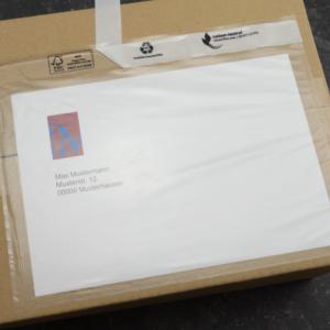 Bolsa com base autocolante para packaging