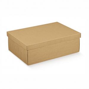 Caixa de base e tampa em cartão kraft