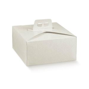 Caixa de quatro abas em pele branco