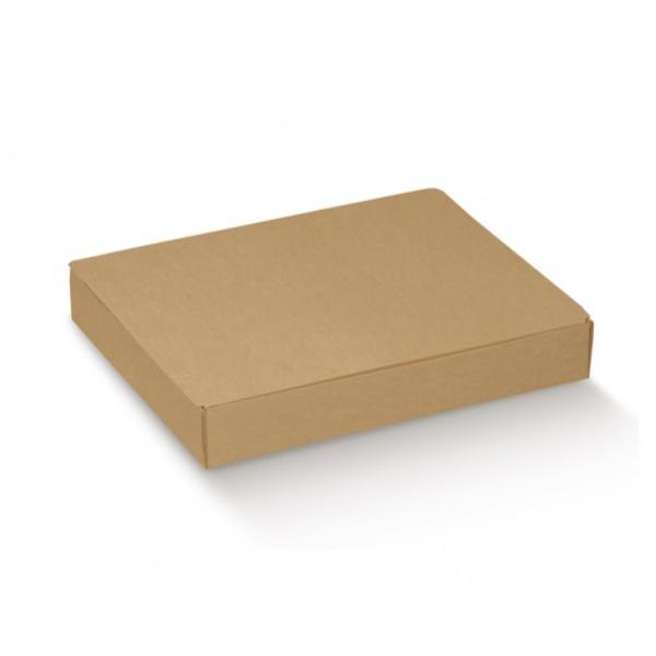 Caixa de envio em cartão kraft liso com tampa integrada