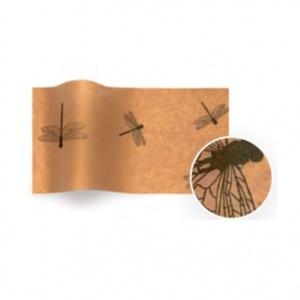 Folha de papel de seda kraft com libelinhas