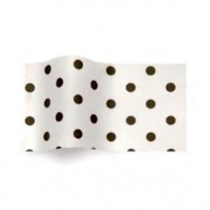 Folha de papel de seda branco com pintas pretas