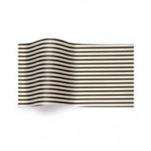 Folha de papel de seda branco com riscas pretas