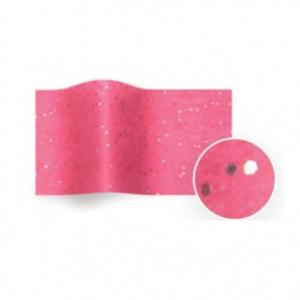 Folha de papel de seda rosa com salpicos brilhantes